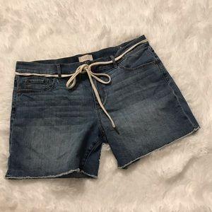 Loft rope belted shorts